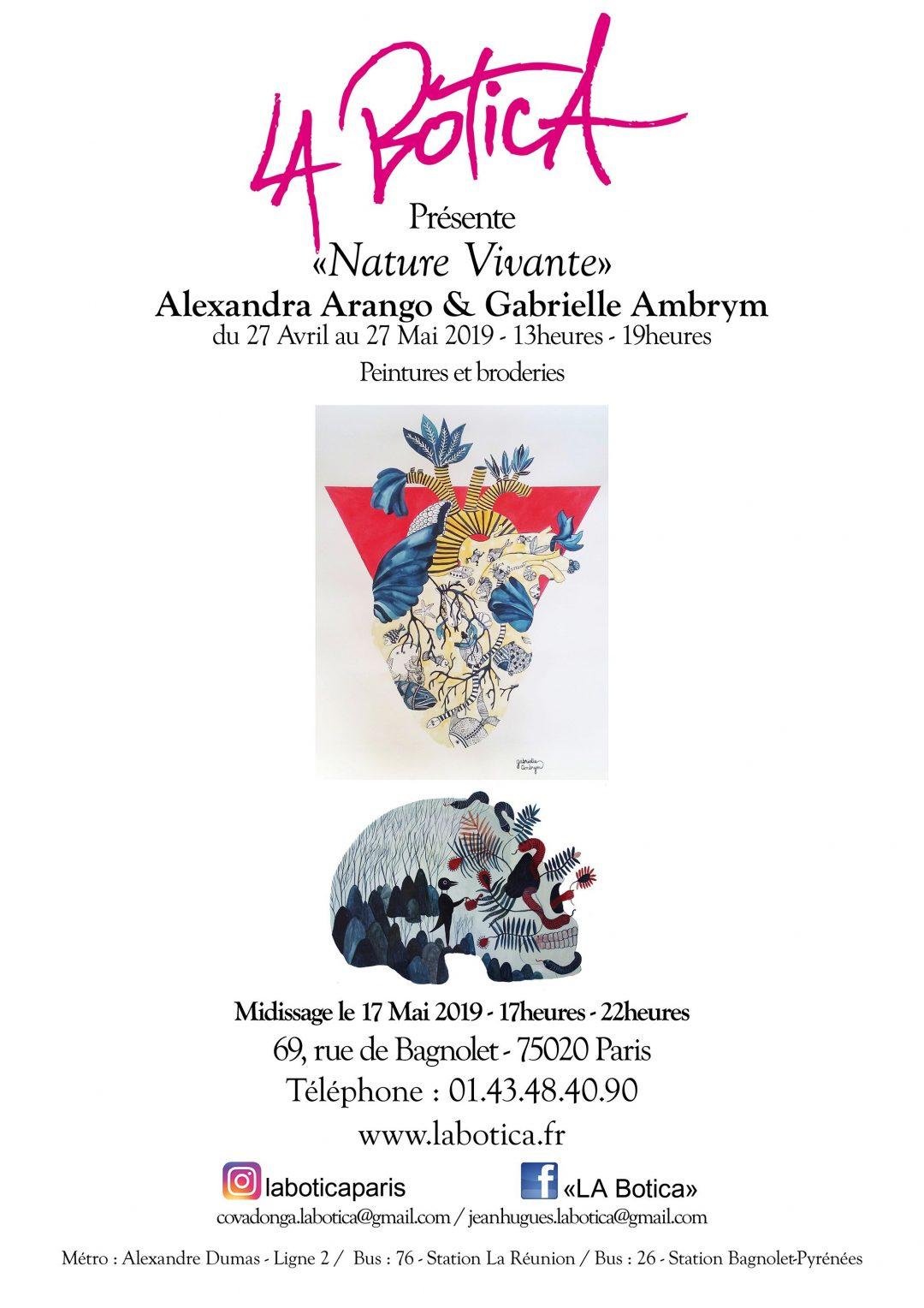 La Botica, exposition Gabrielle Ambrym, Alexandra Arango
