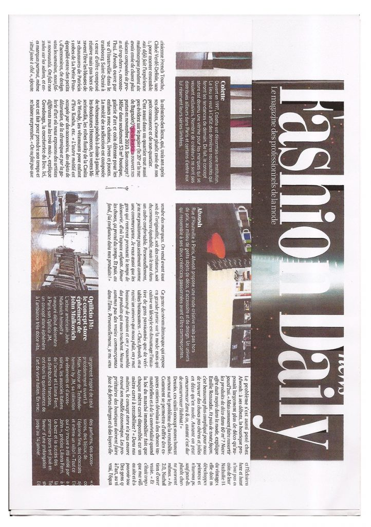 la Botica Paris, article Fashion Daily news
