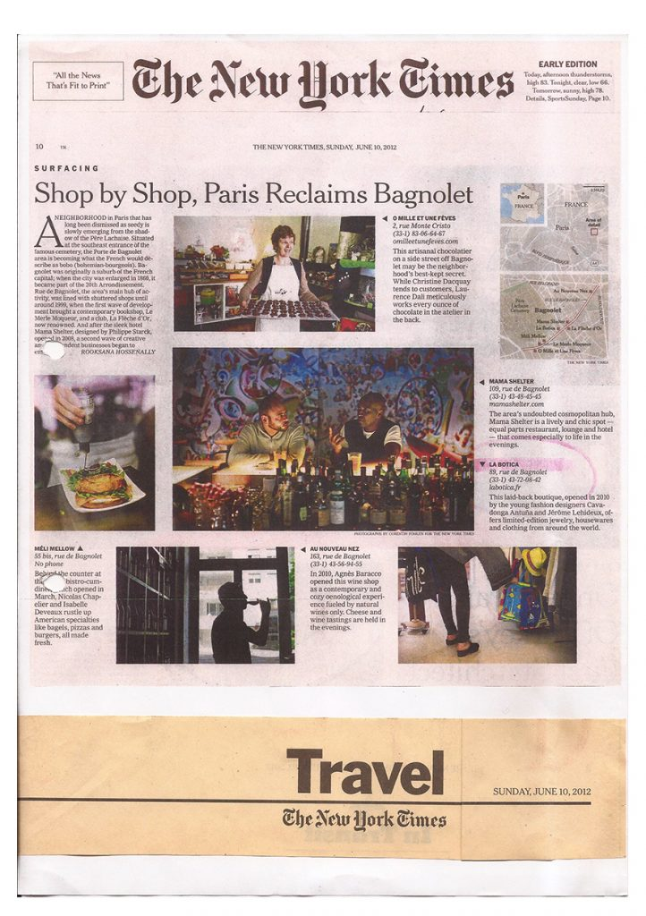 la Botica Paris, article The New York Times