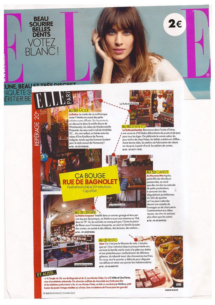la Botica Paris, article Elle France