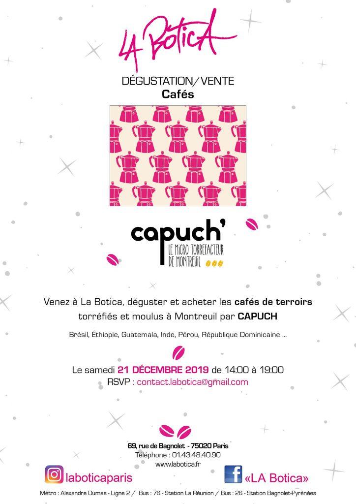 DÉGUSTATION / VENTE DE CAFÉ DE TERROIRS
