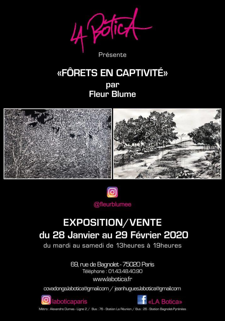 « Forets en Captivité » par Fleur Blume, exposition-vente La Botica